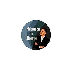 Nebraska for Obama Mini Button