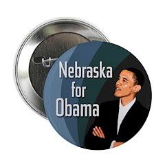 Ten Nebraska for Obama campaign buttons