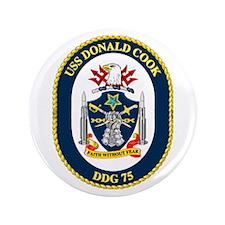 """USS Cook DDG 75 3.5"""" Button"""