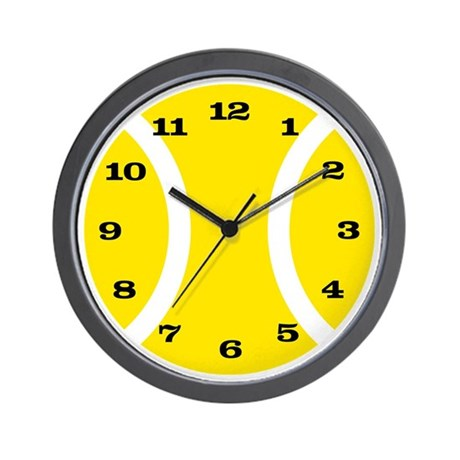 yellow tennis ball wall clock by designoutlet