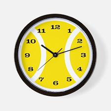 Yellow Tennis Ball Wall Clock