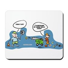 Funny tennis cartoon Mousepad for by the computer