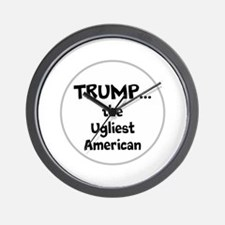 Trump... the ugliest American Wall Clock