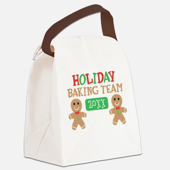 Holiday Baking Team Customizable Canvas Lunch Bag