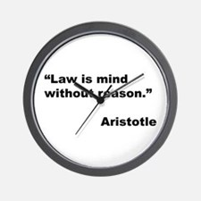 Aristotle Quote on Law & Mind Wall Clock