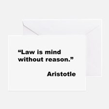 Aristotle Quote on Law & Mind Greeting Card