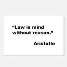 Aristotle Quote on Law & Mind Postcards (Package o