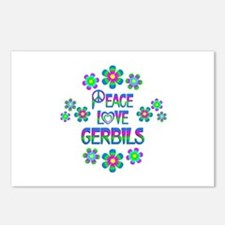 Peace Love Gerbils Postcards (Package of 8)