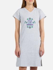 Peace Love Gerbils Women's Nightshirt