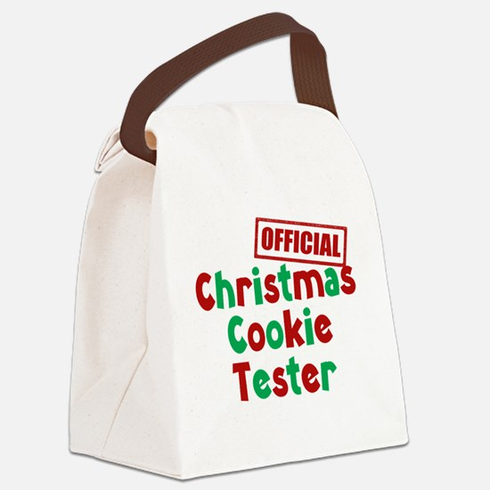 Christmas Cookie Tester Canvas Lunch Bag