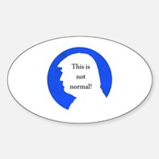 Cool Normal Sticker (Oval)