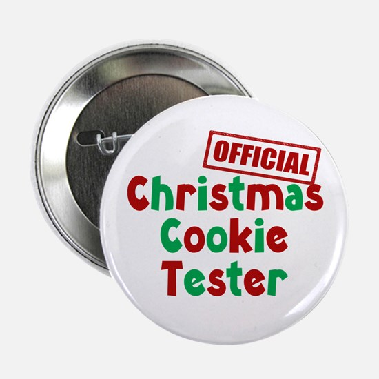 "Christmas Cookie Tester 2.25"" Button (10 pack)"