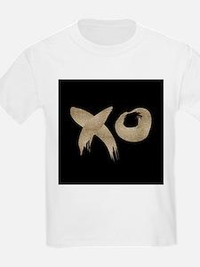 brushstroke black gold XOXO T-Shirt