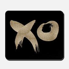 brushstroke black gold XOXO Mousepad