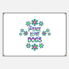 Peace Love Dogs Banner