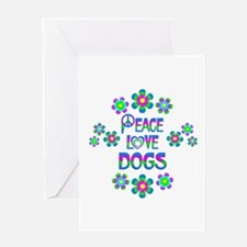 Peace Love Dogs Greeting Card
