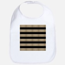 chic black gold stripes Baby Bib
