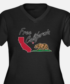 Free California CalExit Plus Size T-Shirt