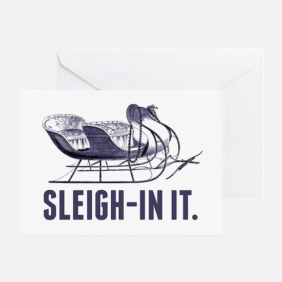 Cute Christmas puns Greeting Card