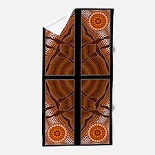 An illustration based on aboriginal st Beach Towel