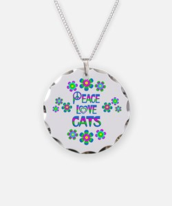 Peace Love Cats Necklace