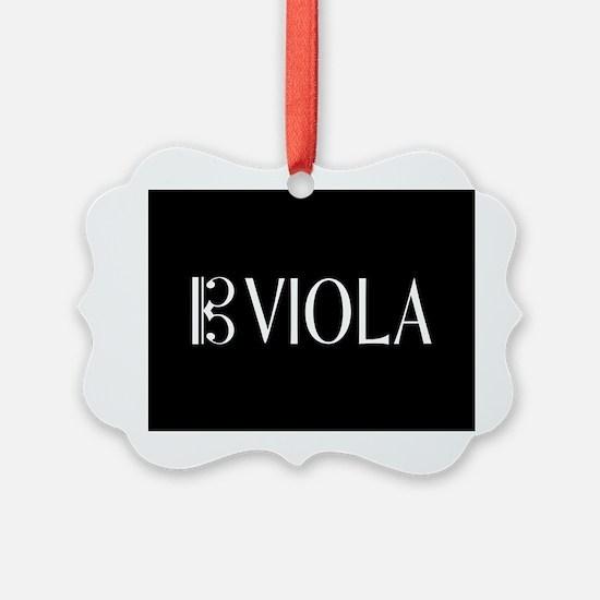 Viola with Alto Clef in Black & W Ornament