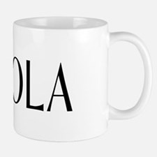 Viola with Alto Clef in Black & White Mug