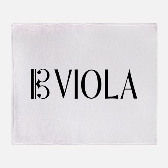 Viola with Alto Clef in Black & Whit Throw Blanket