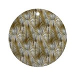 Owl Feathers Ornament (Round)