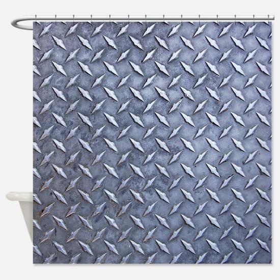 Steel Diamond Pattern Metal Grating Shower Curtain