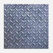 Steel Diamond Pattern Metal Grating Tile Coaster