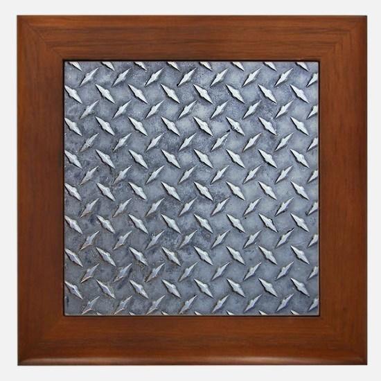 Steel Diamond Pattern Metal Grating Framed Tile