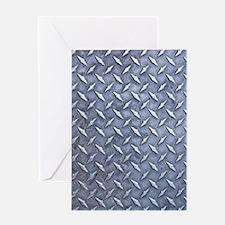Steel Diamond Pattern Metal Grating Greeting Card