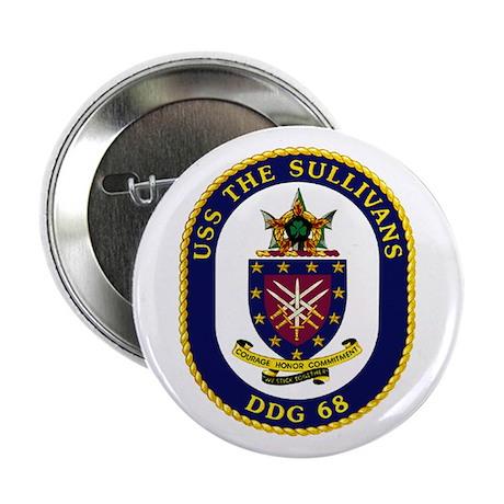 "USS The Sullivans DDG 68 2.25"" Button (10 pack)"
