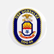 """USS Gonzalez DDG 66 3.5"""" Button"""