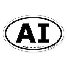 """Amelia Island, Florida """"AI"""" Decal"""