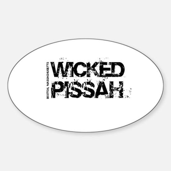 Wicked Pissah Boston Sticker (Oval)