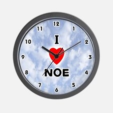 I Love Noe (Black) Valentine Wall Clock