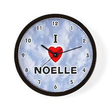 I Love Noelle (Black) Valentine Wall Clock