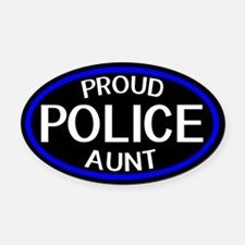 Police: Proud Aunt (The Thin Blue Oval Car Magnet
