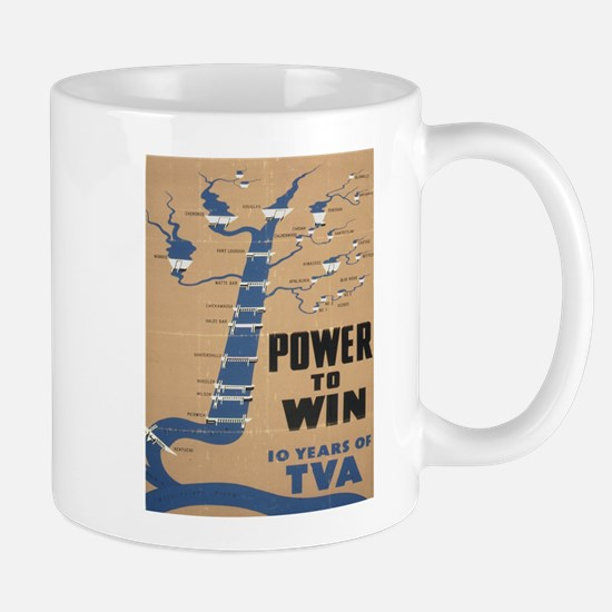Vintage poster - Tennessee Valley Authority Mugs