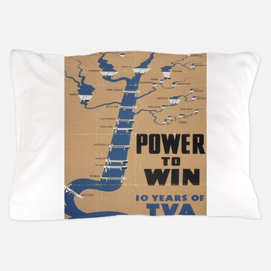 Vintage poster - Tennessee Valley Auth Pillow Case