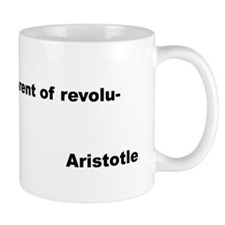 Aristotle Quote on Poverty Mug
