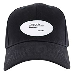 Aristotle Quote on Poverty Baseball Hat