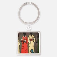 Funny African Square Keychain