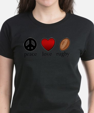 Rugby Peace Love Rugby T-Shirt