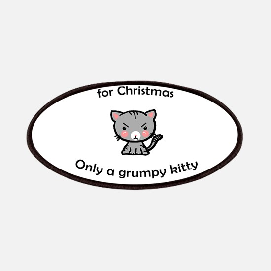 Grumpy Kitty for Christmas Patch