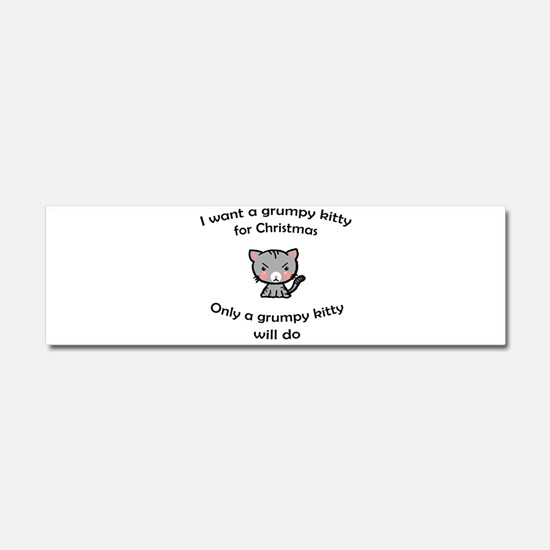 Grumpy Kitty for Christmas Car Magnet 10 x 3