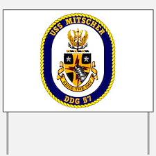 USS Mitscher DDG 57 Yard Sign