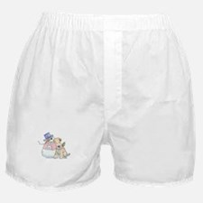 Soft Coated Wheaten Terrier and Snowm Boxer Shorts